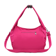 Nylon Shoulder Bag Waterproof Oxford Large Capacity Leisure Or Travel Solid Soft Strong Package Candy Color Women Cute