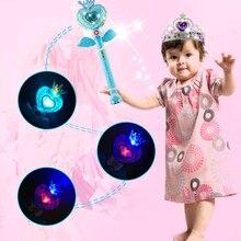HUAILE Gyerekek Elektromos Hang Zene Flash Lámpa Magic Wand Játékok Gyerekeknek Műanyag Zenés Vicces Legyél a hercegnő Játék Lány