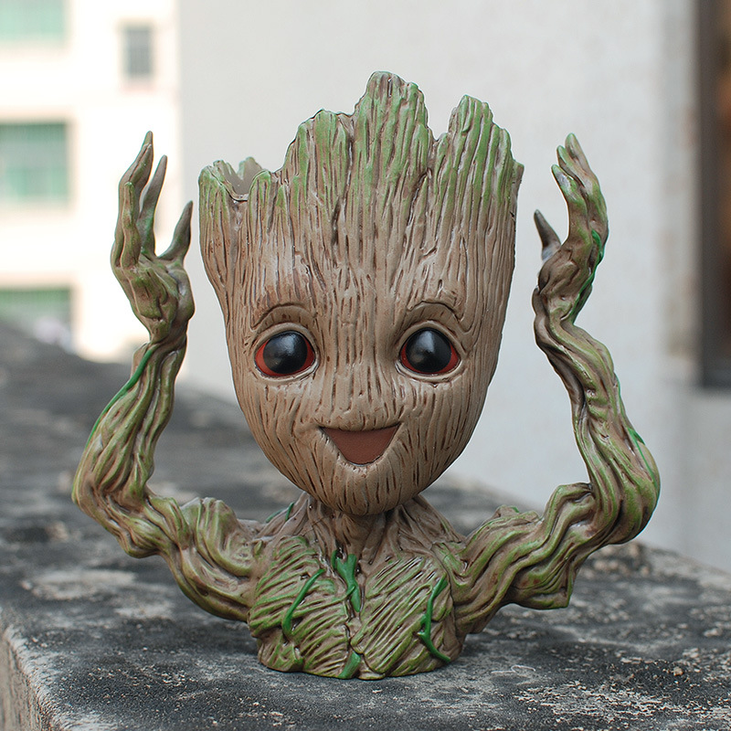 New Baby Flowerpot Guardians Of The Galaxy Toy PVC Hero Creative Hands Up Action Figures Crafts Figurine Drop Shipping