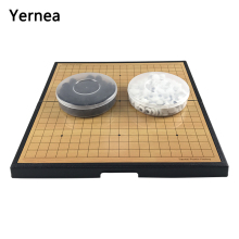 Yernea Children Go Game Portable Folding Large Magnet Magnetic Disks Set Plastic Chess Board