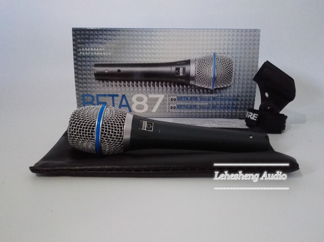 Top Quality Beta 87A Clear Sound Handheld Wired Karaoke Microphone