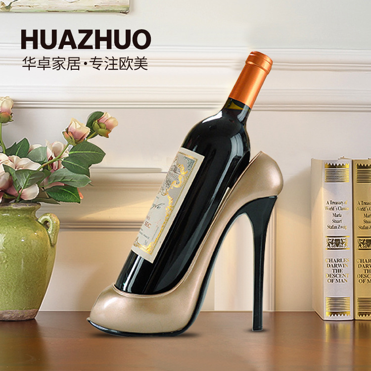 Modern Brief red wine holder figurine household function decoration hotel bar counter decorative figurine Creative wine holder