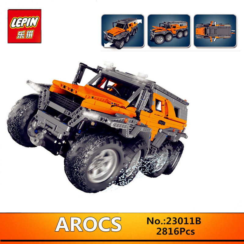 In-Stock  LEPIN 23011 2816Pcs New  Series Off-road vehicle Model 23011B Educational Building Kits Block Bricks Compatible Toys new lepin 22001 in stock pirate ship imperial warships model building kits block briks toys gift 1717pcs compatible legoed 10210