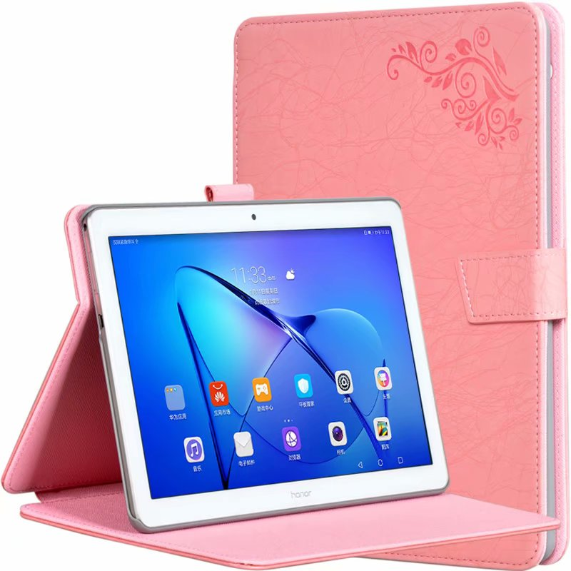 Stand Case For Huawei Mediapad T5 Cases Printed Pattern High Quatity PU Leather Flip Cover For T5 AGS2-W09/L09/L03/W19 10+ Pen