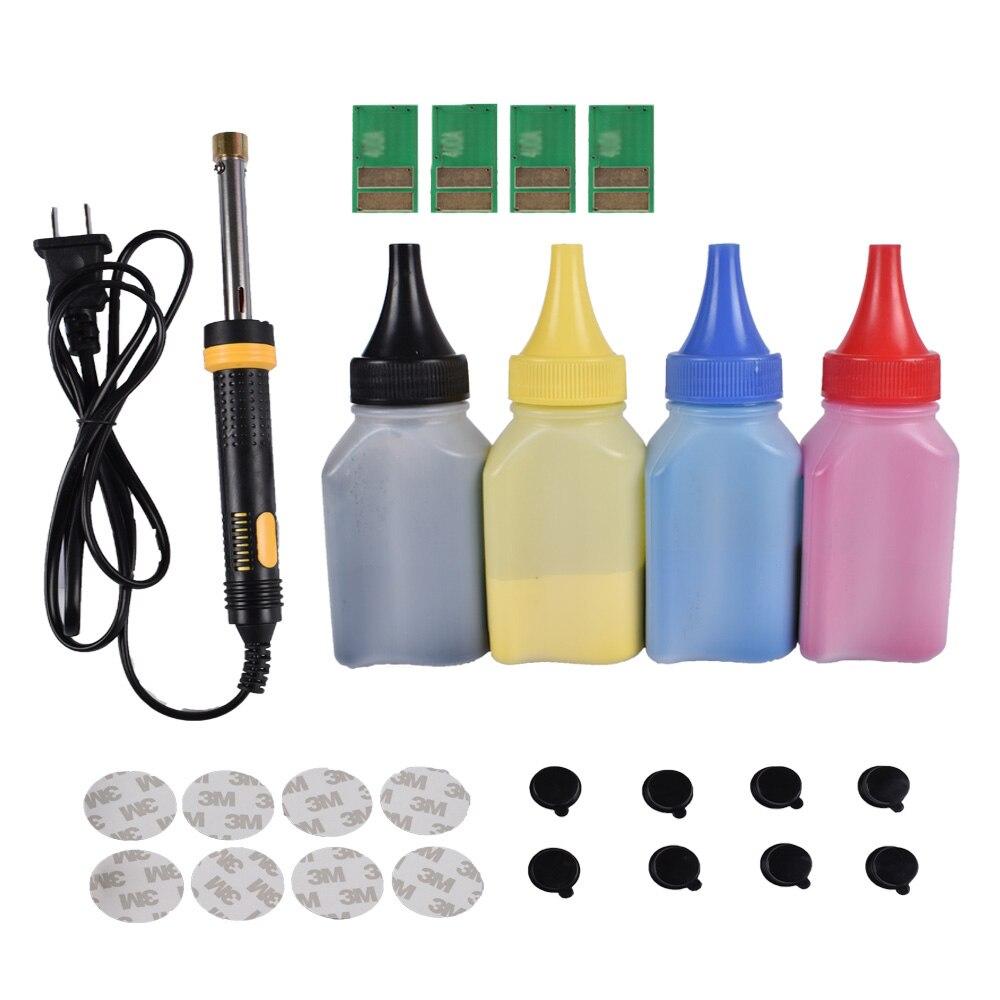 Recharge Poudre de toner cartouche outil kit + 4 pcs puce POUR HP CF540A 203A cartouche LaserJet Pro M254nw 254dw M280nw m281fdw 281fdn