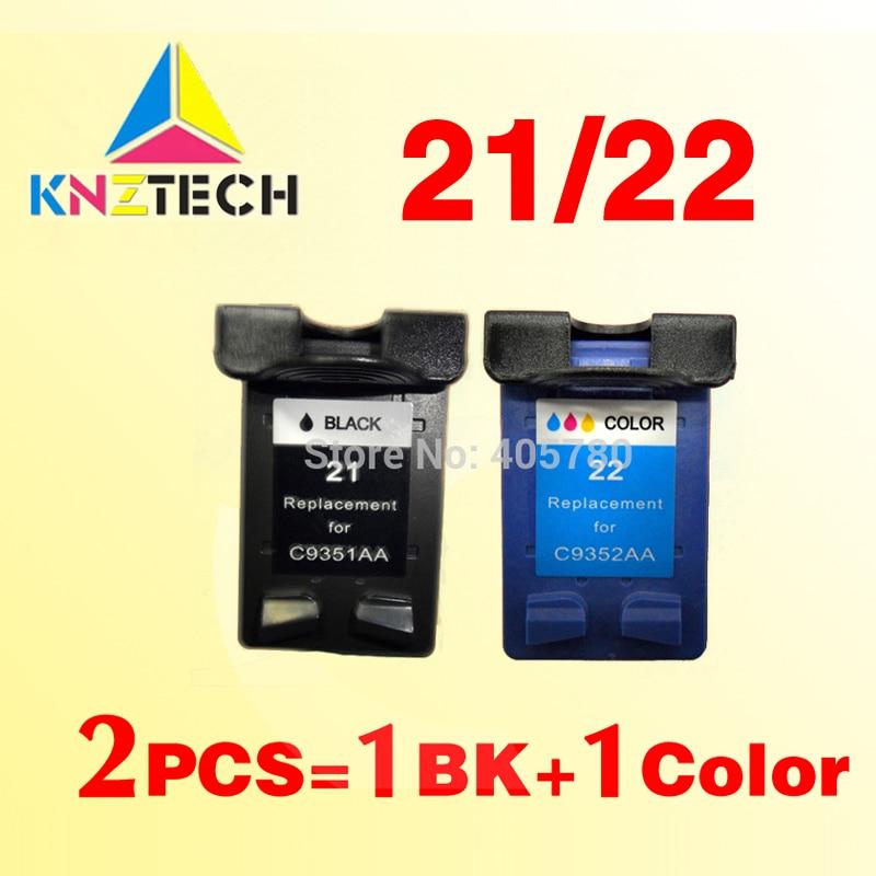 2x совместимые картриджи для hp21 22 Замена для 21XL 22XL с чернилами hp Deskjet 3915 3920 3930v D1530 D1320