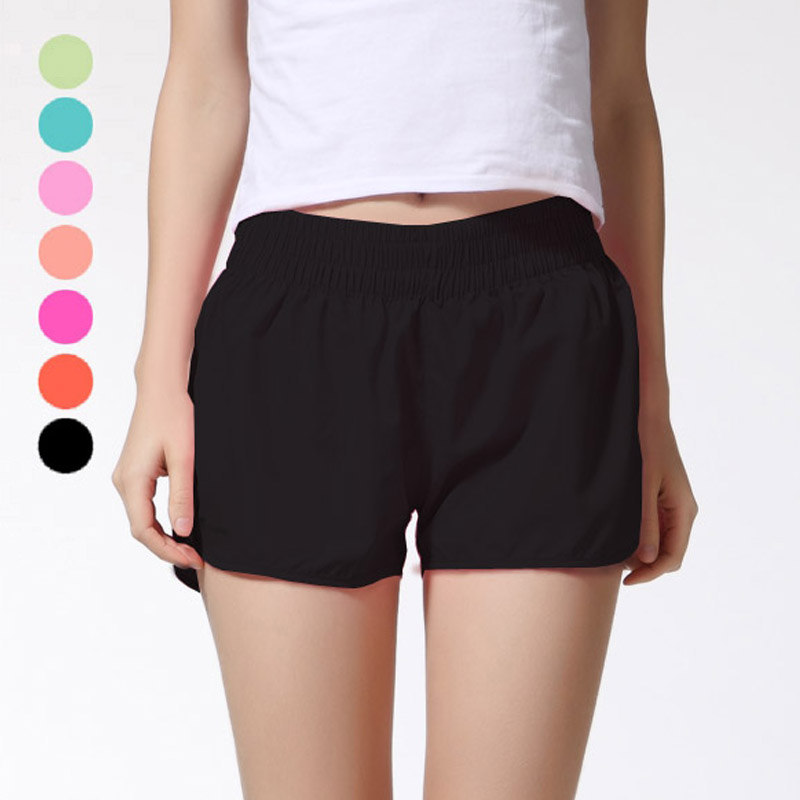 Shelikeit 2017 Wholesale All-purpose Summer shorts for womens thin Quick-Drying Elastic Waist Candy Colors plus size shorts pink