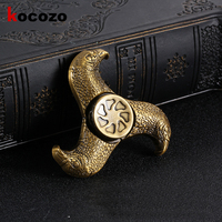Ancient Fidget Spinner Finger EDC Hand Spinner Metal Tri For Kids Autism ADHD Anxiety Stress Relief