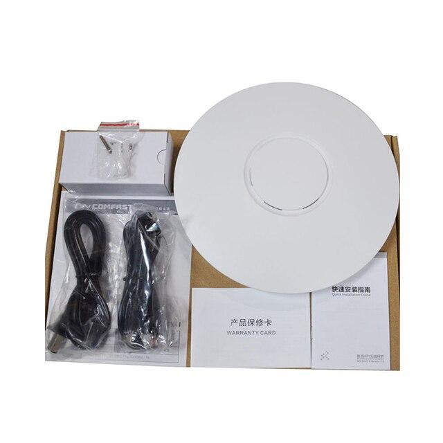 Высокая Мощность 300 Мбит Беспроводной Точки Доступа Потолок AP WI-FI Маршрутизаторы WI-FI Ретранслятор WI-FI Extender С 2 * 3dBi Антенны поддержка PoE