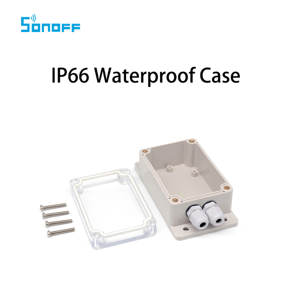 Sonoff IP66 Waterproof Cover Case for Sonoff Basic/RF/Dual/Pow/TH16/G1 Smart Home 500g natural organic moringa leaf pow der green pow der 80 mesh free shipping