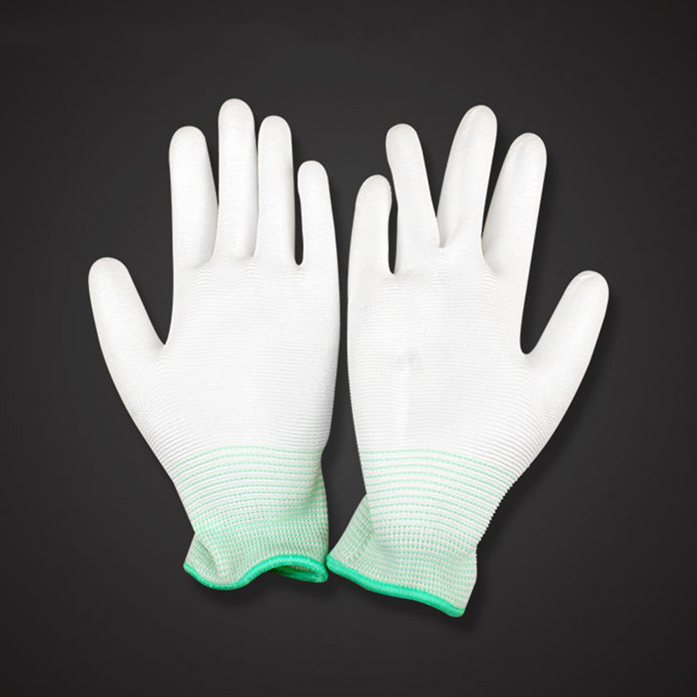 1pair Antistatic Gloves Anti Static Electronic Working Gloves Men Coated Palm Coated Finger PC Antiskid For Finger Protection
