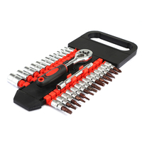 28pcs Tube Double Row Ratchet Wrench 1 4 Small Fly Repairing Hand Tool