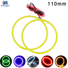 110mm 12v Waterproof Car LED Angel Eyes Headlight Universal Car Halo Rings With Pigtial Automotive LED Lamp Car Super LED Lights недорго, оригинальная цена