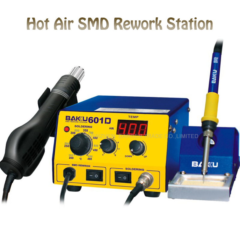 Electric Soldering Station Phone Hot Air SMD Rework Station BAKU BK-601D LED Digital Display Soldering Gun BGA Rework Station wep 959d led display smd soldering station hot air gun rework station
