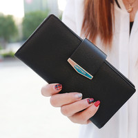 Famous Brand Designers Women Bifold Phone Wallet Leather Clutch Card Holder Purse Long Handbag Top Quality