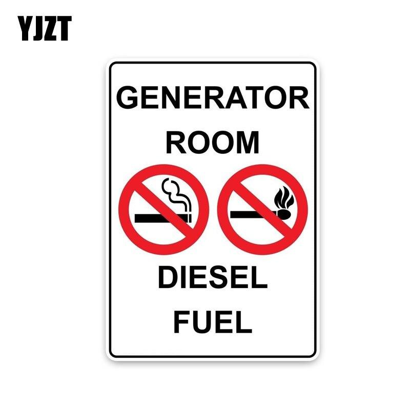 Yjzt 8.8*12.7 см модные генератор номер дизельного топлива Предупреждение подписывает украшения ПВХ наклейки автомобиля Стикеры c1-8301