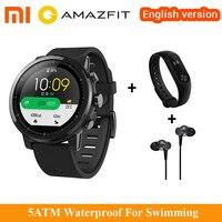 Original Xiaomi Amazfit Stratos Pace 2 GPS Smart Watch 50 ATM Waterproof Sports Watch Fitness Tracker For Xiaomi 8 Mix 2s