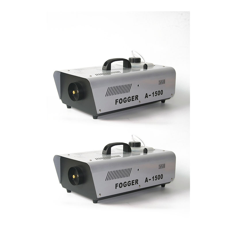 2pcs/lot Wire Remote Control 1500W Smoke Machine Stage Fog Machine 1500watt Good For DJ Disco Equipment Show Dmx Lights