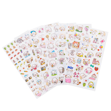 6pcs/pack Kawaii Cinnamoroll Sanrio Stickers DIY Scrapbooking Sticker Cute Dog Sticker Children Letter Diary sticker
