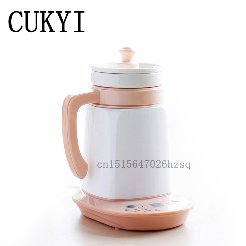 CUKYI Household Multifunctional Electric Kettle Health preserving pot health glass maker water boiler 0.6L for cukyi household electric nonstick skillet 3 4 people small cooker korean multi purpose electric boiler 2 8l electric hot pot