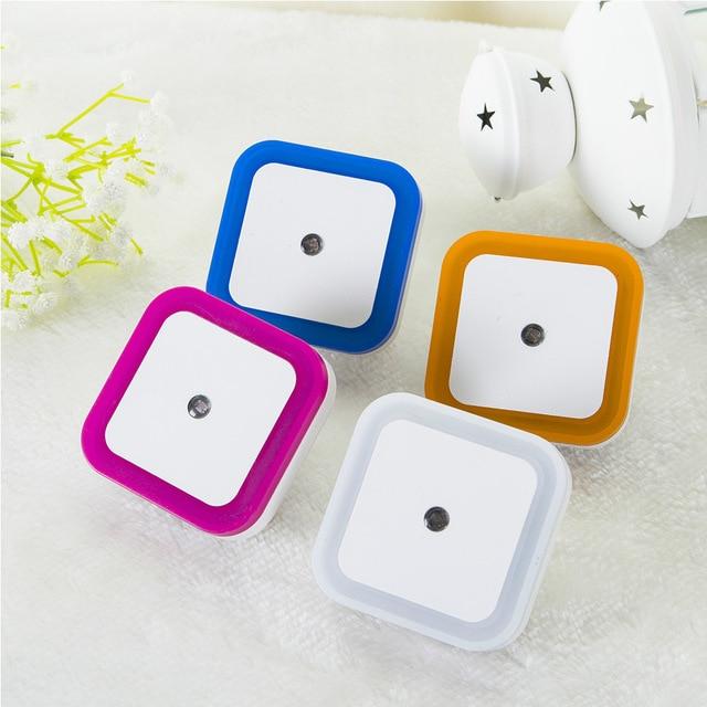 Smart Auto Light Sensor LED Mini Night Lights Square Plug Charge Energy Saving Bedroom Aisle Lamp For Kids Child Home Decoration