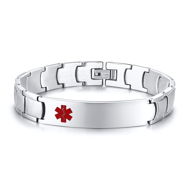ID Tag Bracelet Men Custom...