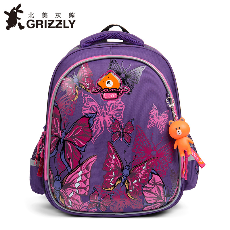 GRIZZLY 2019 NEW Orthopedic backpack Children School Bags For Girls and boys High quality 3D printing