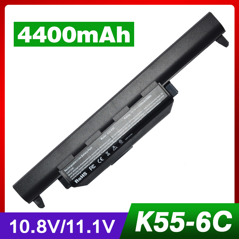 4400mAh Laptop Battery for ASUS A32-K55 A33-K55 A45D A45DE A45DR A45N A45V A45VD A45VG A45VM A45VS A55 A55A A55D A55DE A55DR