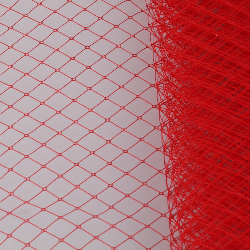 Red or multiple color 25cm Birdcage Veiling Millinery Hat Veil DIY Hair accessories made of fascinator material veils 10yard/lot