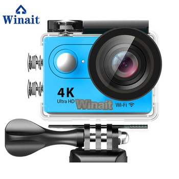 Winait 2017 popular H9 sports camera with 30 meters waterproof wifi action 1050mah battery card max support 32GB