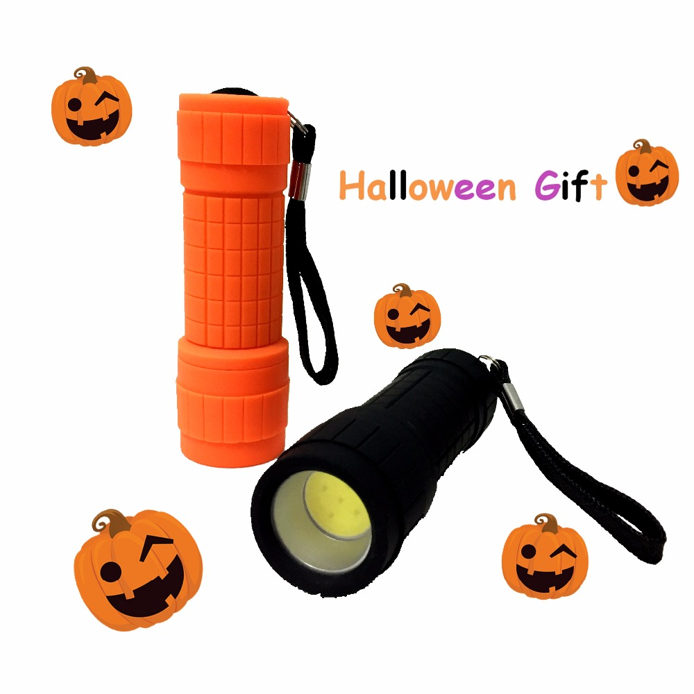 Mini Lantern Child Halloween Kids Gift Lamp Promotion Light 5 W COB LED Plastic Flashlight Torch Portable Lanterna