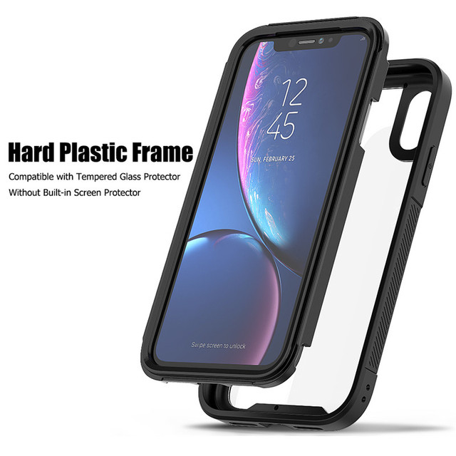 PC+TPU Military Shock Absorption Case for iPhone X XR XS XS Max Transparent Ultra-Thin Protective Case for 6 6s 7 8 Plus
