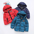 YNB Girls Winter Coat 2017 New Children's Winter Jackets Brand Dobby Long Winter Coat Girl Boys Parka Jacket Fits 4-10Y 3Colors