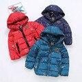 YNB Niñas Abrigo de Invierno 2017 Nuevos niños de Invierno Chaquetas Marca Abrigo de Invierno de La Muchacha Niños Parka Chaqueta Larga Dobby Para 4-10Y 3 Colores