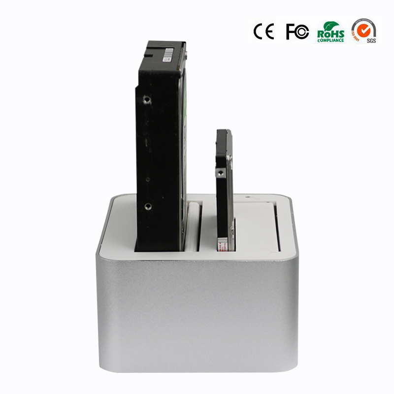2 Bay 7-12.5mm SATA SATA II SATA III ports hard disk case 2.5 usb 3.0 drive bay aluminum enclosure hard drive caddy with UASP