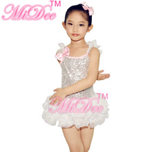 Children Ballet Tutu Dance Dress Sequins Leotard Kids Party Dresses Wedding Flower Girls Dresses