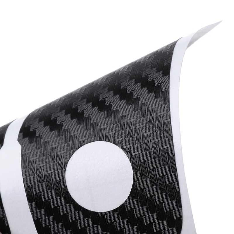 סיבי פחמן רכב מפתח מדבקות עבור פולקסווגן פולקסווגן פולו פאסאט b5 b6 גולף 4 5 6 ג 'טה mk6 tiguan גול crossFox בתוספת Eos רכב סטיילינג