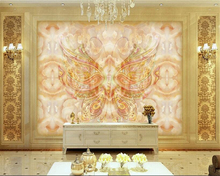 beibehang 3d wallpaper	Fashion high - end decorative painting wallpaper royal flying flower marble backdrop