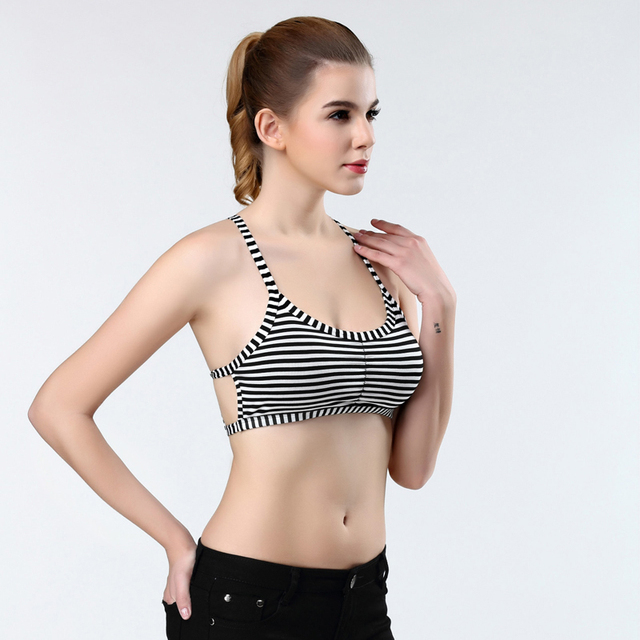 200PCS/LOT  2017 new fashion  Women Tight Bustier Crop Top Skinny Sexy stripe Short Vest Tank Tops