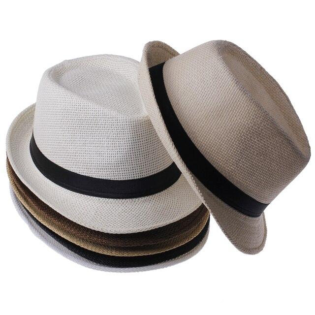 Летний стиль детьми вс пляж Sunhat фетровую шляпу шляпа соломы панаме мальчик девочка гангстер , пригодный для детей дети женщины мужчины