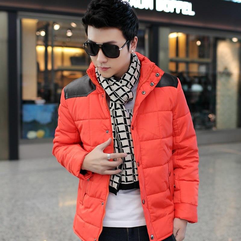 Sonbahar Kış Erkek Erkekler Ceketler Standı Yaka Palto Moda Rahat Giyim Aşağı Parka Büyük Boy Y1867