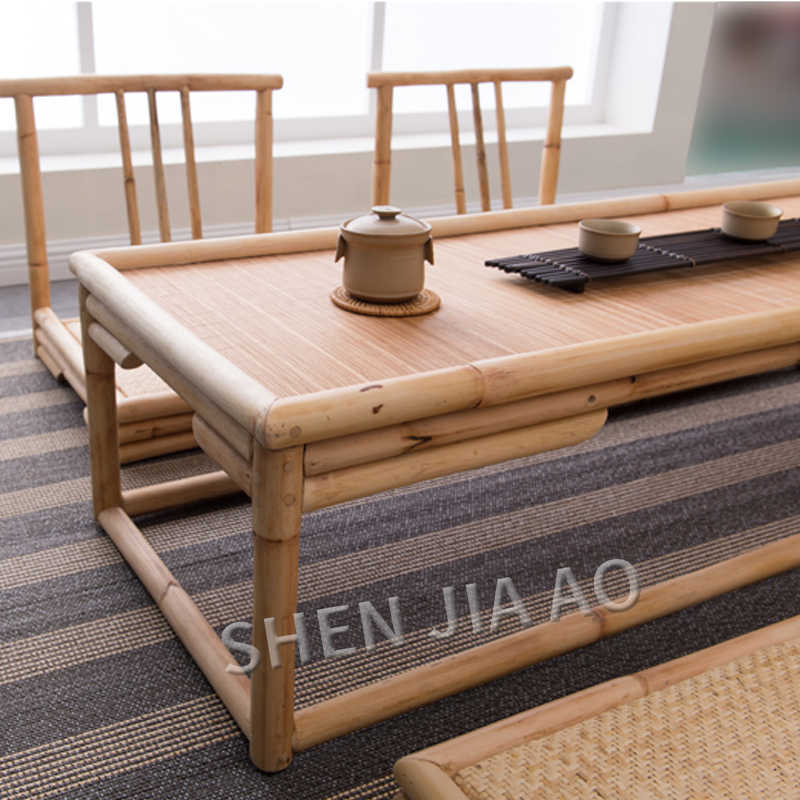 Retro Tea Table Bamboo Rattan Balcony Japanese Style Tatami Coffee Table Bay Window Bamboo And Rattan Craft Table 1pc Coffee Tables Aliexpress