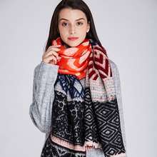 2019 New Fashion Women Long Shawl Scarf  Multicolor Autumn Winter Female  Lady Casual Warm Soft Classic Men Accessories Unisex 2018 new autumn and winter popular fashion wing tote genuine leather trapeze women handbags casual big volume shopping bag