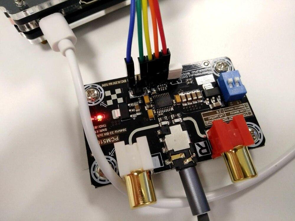 PCM5102A без потерь цифровой аудио I2S DAC декодер для Raspb