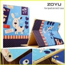 ZOYU Smart Cover Para el ipad de Apple de aire 2/caso para el ipad de aire 1 caso caliente 5/6 caso