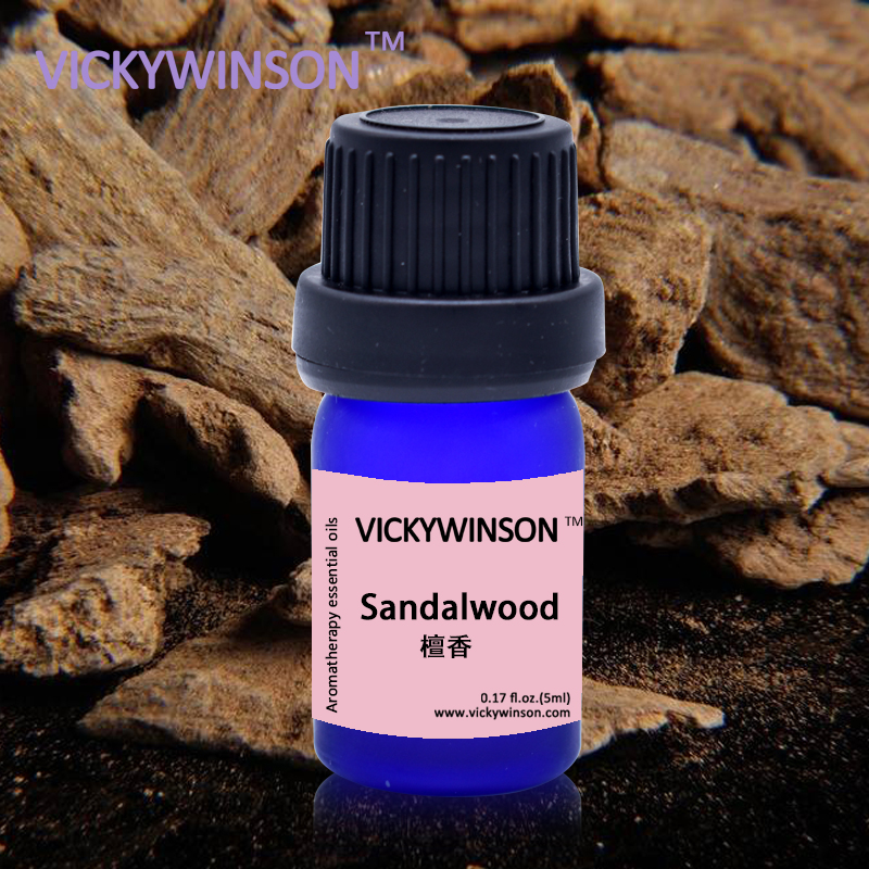 Купить с кэшбэком VICKYWINSON Body Massage Essential oils Thin Face Sandalwood Essential V Double Chin Lean Muscle 5ml deodorization