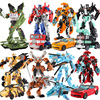 19cm Height Transformation Optimus Prime Bumblebee Megatron Ironhide Starscream Deformation Robot Toy Action Figures Toys