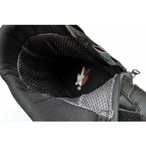 Image 5 - Sürme kabile mikrofiber deri motosiklet botları Pro biker hız Bikers Moto yarış Motocross ayakkabı