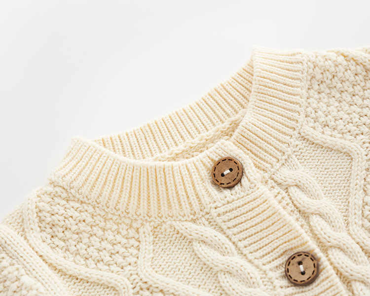 Baby Strampler Gestrickte Neugeborenen Jungen Overall Outfits Langarm Herbst Weiß Kabel Infant Mädchen Overalls Winter Warme Kinder Tragen