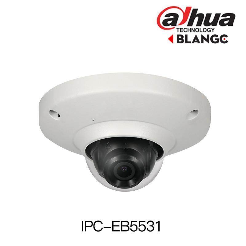 Dahua IPC-EB5531 5MP H.265 WDR Panorama 180 Degree built-in MIC SD card slot POE Network Fisheye IP Camera replace IPC-EB5500